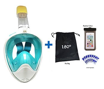 180 Degree Gopro compatible anti-fog snorkel mask , Panoramic full face design free breathing snorkel mask