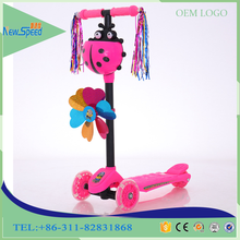 china manufacturing three wheel kids kick scooter/hot sale widen pedal foot scooter for kids/custom PU wheel chldren scooter