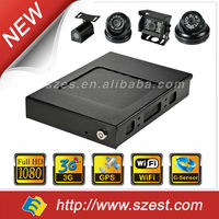 NEW 4ch 8ch H.264 Mobile DVR with Anti shock for Taxi Car Bus G-Sensor GPS 3G full HD 1080p 4ch hdd vehicle black box