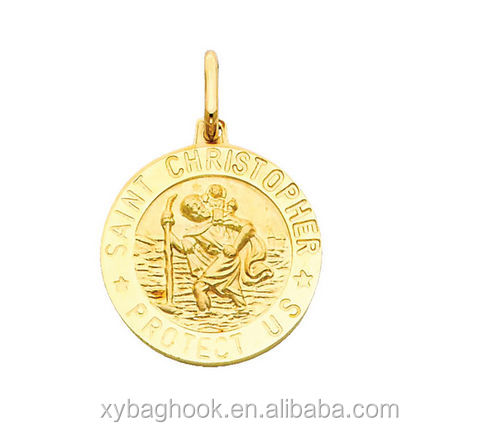 Custom production st christopher medal