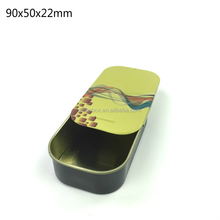 New product Factory directly sales rectangle sliding tin box for candy