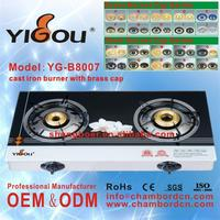 YG-B8007 wholesales 4burner gas stove gas cooker 2 burners