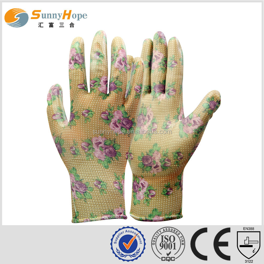 sunnyhope chip pattern Assembly Gloves with safety liner