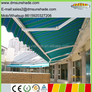 Terrace sunshade retractable swimming pool awning