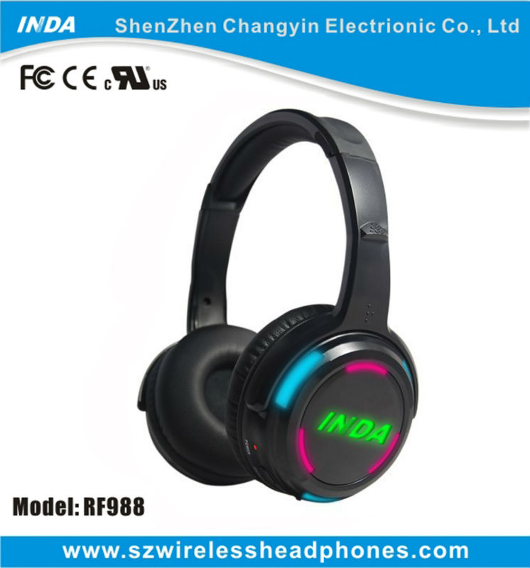 201 best selling silent disco dj led flashing Wireless headphone