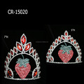 Wholesale Red Rhinestone Strawberry Flower Crown Tiara