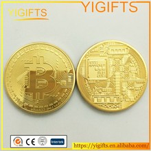 American Bitcoin Gold Plated Coin Replica Copy Souvenir BTC Coin Art Collector Gifts