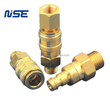 Brass mini type pneumatic quick coupling medical equipment quick release conpler China