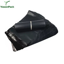 Dhl Poly Material Reusable Polythene Custom Logo Printing Plastic Mailing Air Bags Black
