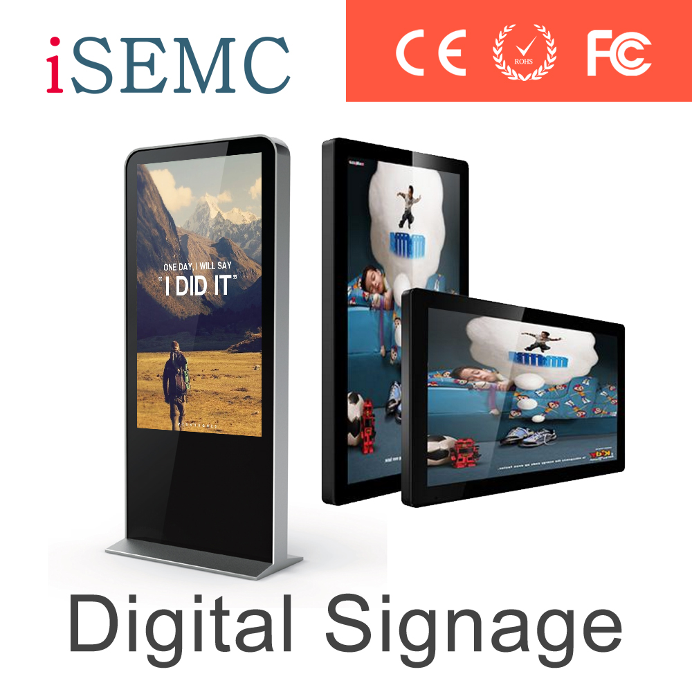 HD network/standalone wall mount digital signages advertisement with lcd screen media playerst android/windows ce/rohs/