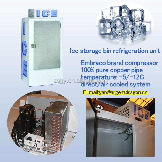 Solar power system ice bin