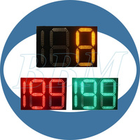 Two and half digits traffic led countdown digital wall clock