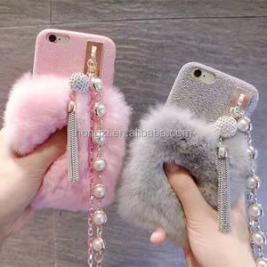 Multi Colors 100% Real Rabbit Fur Phone Case Hot Sell Luury Cover For iPhone 5c 5 5s 4 4s 6 6s 7 7 7 Plus 8 Pear Fur Case