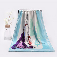 100%silk scarf Chinese new design digital printed fashion magic long silk shawel