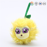 Creative soft plush big eyes animal baby ball toy for kids