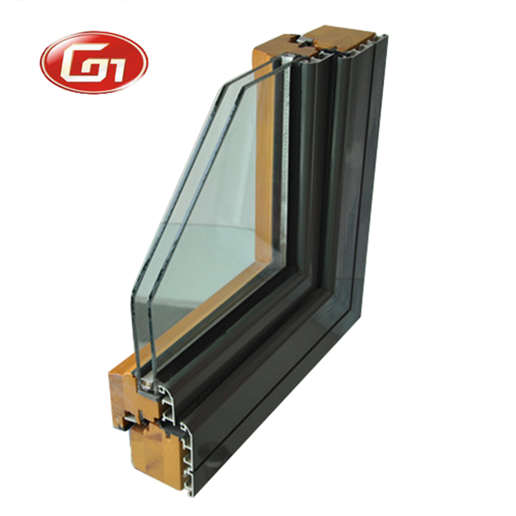 Thermal break wood clad aluminium casement window by windows and doors drawing factory