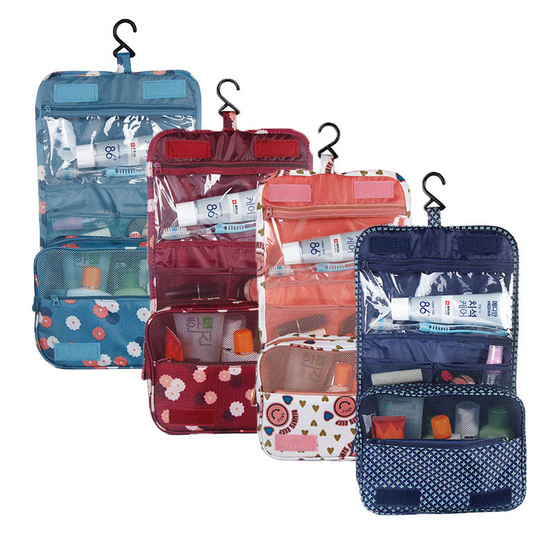 High Quality Oford Multi-function Storage Hang Make Up Luggage Bag Women Travel Large Capacity Cosmetic Bags HB88