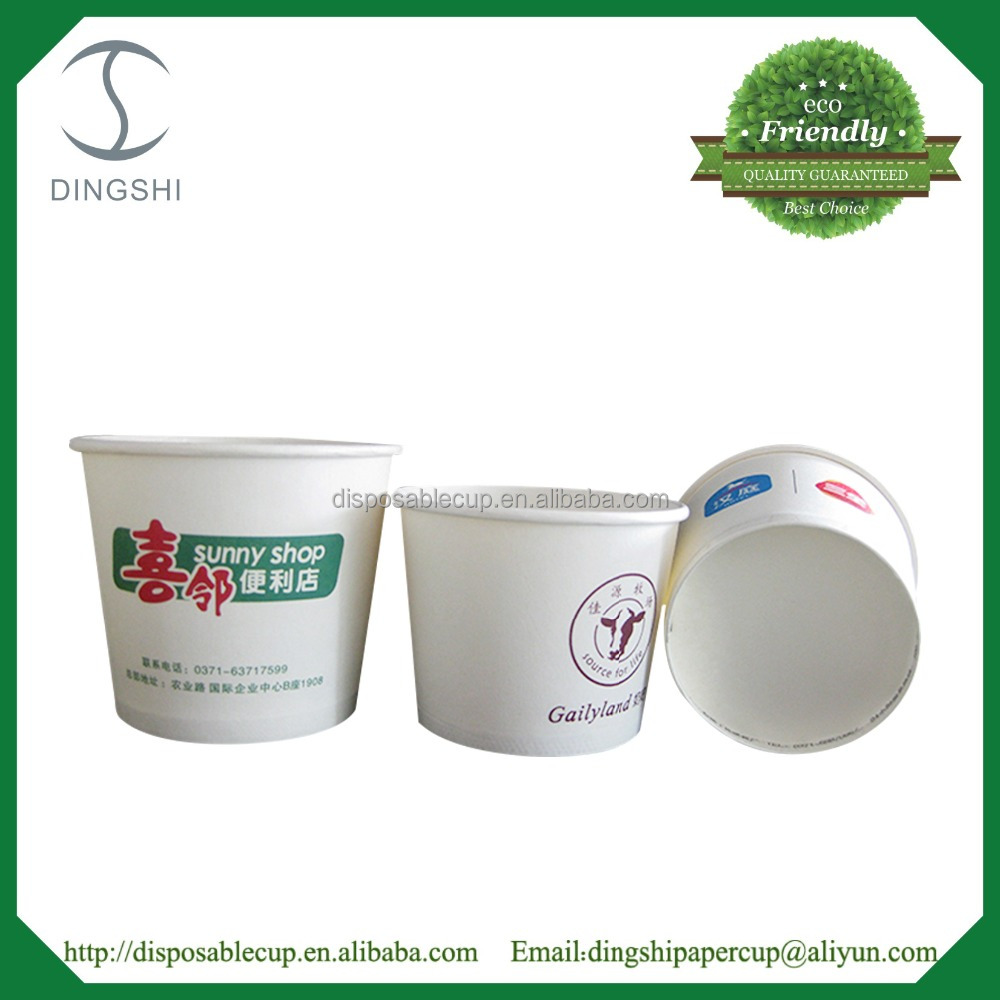 Disposable soup bowl food container paper bowl