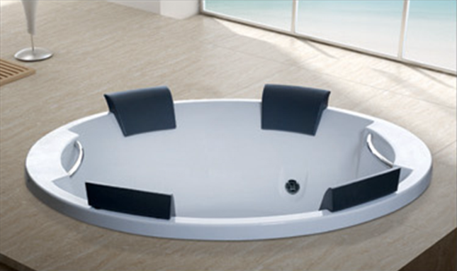 Excellent embedded acrylic massage bathtub for fat people