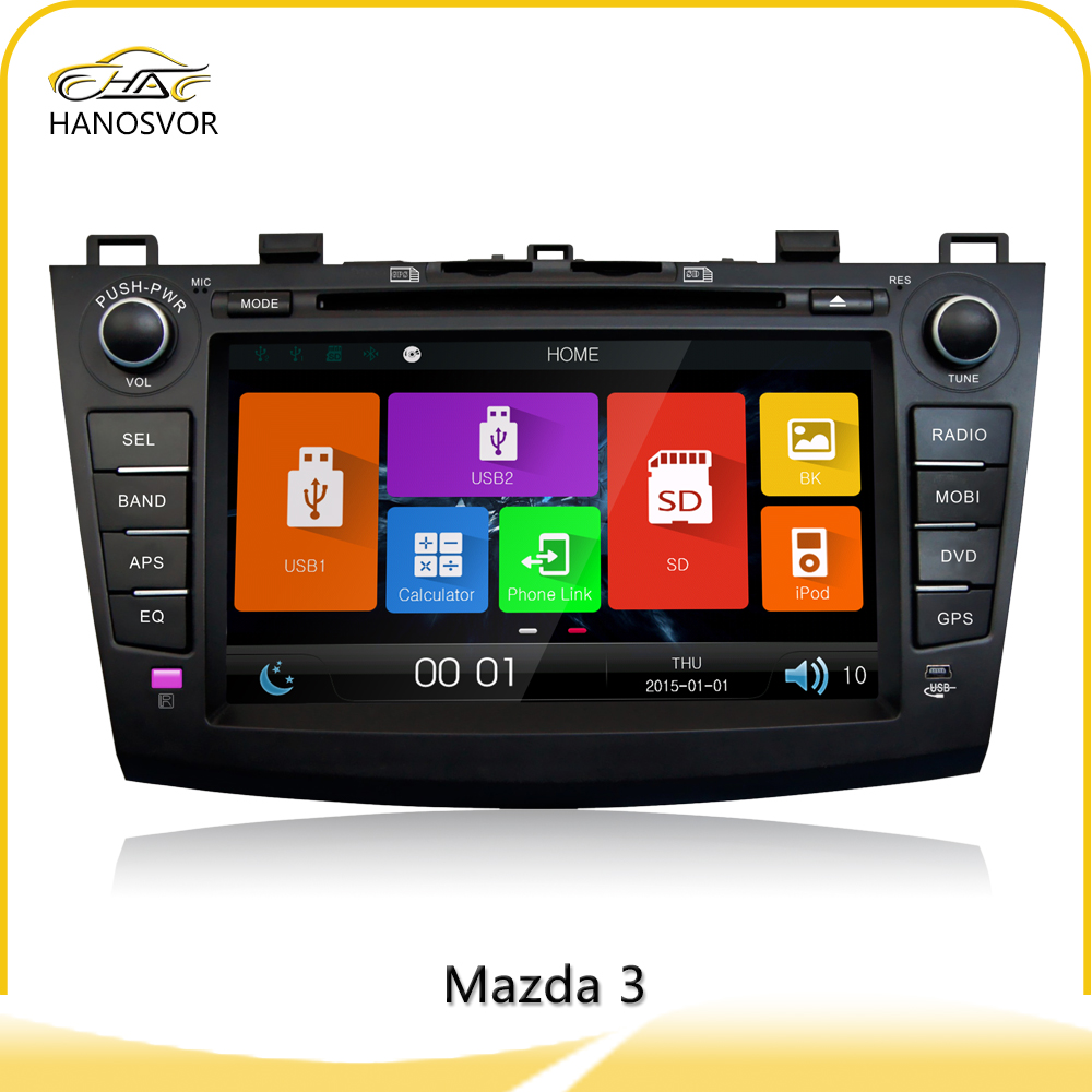 Double Din Car DVD Player with GPS for Mazda 3 car audio