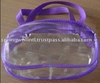 Cosmetics PVC Purple Toiletry Bag With Zipper