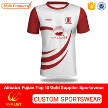 Custom sublimated 100% Polyester women t-shirt for teamwear