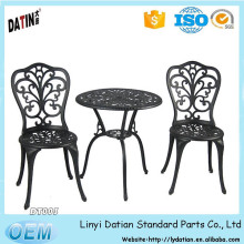 factory directly sale Cast Aluminum Bistro Set with Umbrella Hole