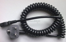 Spring spiral power cord coiled cable