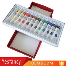 EN71 approved OEM logo 12ml non toxic bright colors acrylic paints hand drawn acrylic paint nail art