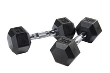 Dumbbells with rubber