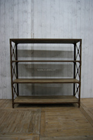 Antique Style Europe Oak Wood Scrapbook Storage