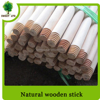 Standard thread natural wood stick