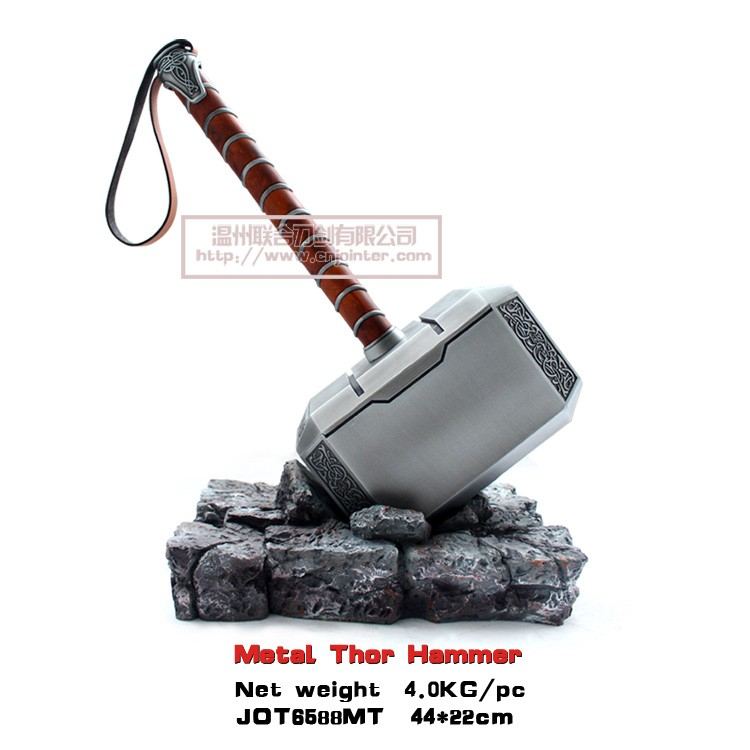 wholesale metal thor hammer avengers weapons jot6588mt