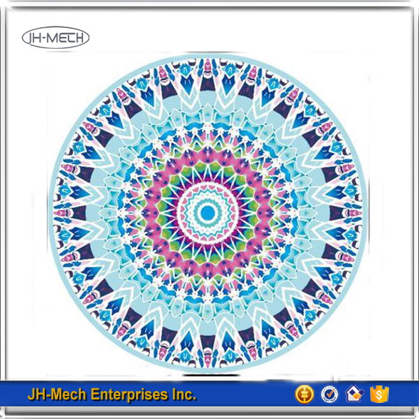 Traditional Indian Mandala OEM Accepted Weighted Round Towel Blanket Beach