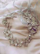 BRIDAL WEDDING RHINESTONE CRYSTAL HAIR TIARA RIBBON HEADBAND