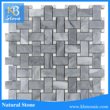 Honed italy grey basketweave mosaic tile for sink