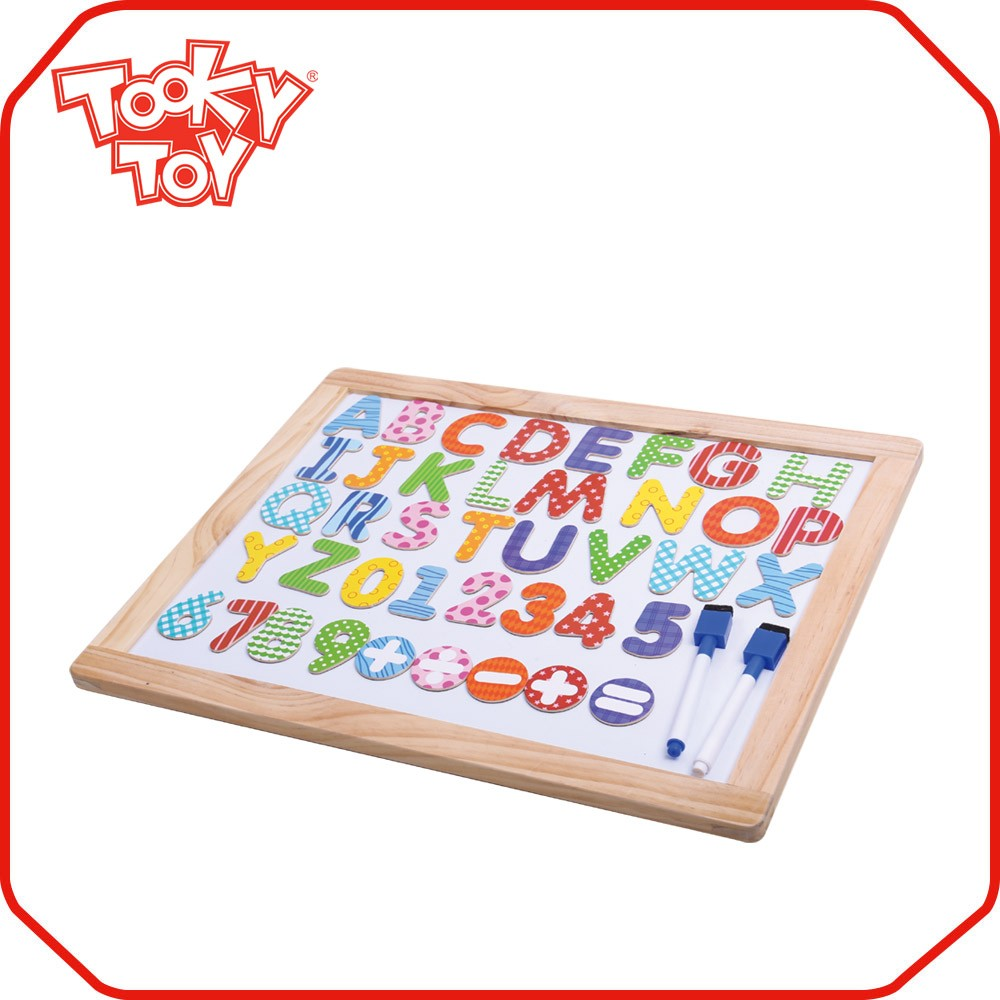Wooden Magnetic Alphabet Number Learning Drawing Board Toys