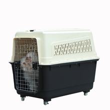 Convenient airline approved plastic dog transport box
