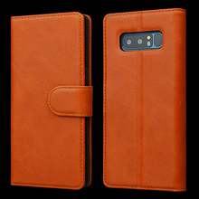 Handmade Genuine Leather Wallet Case for Samsung Note 8