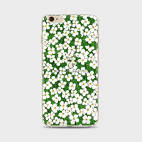 Silicon TPU custom white flowers printing phone cases for Phone Soft Phone Case For iPhone 5 5S