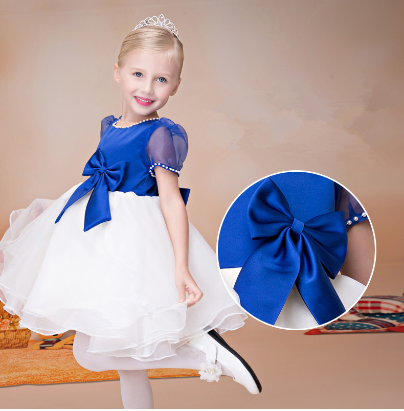 Fashion cute birthday flower children's clothes performance costume children dress China factory