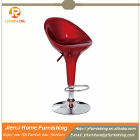 Adjustable ABS bar stool with round foot rest / salon chair JR-2018