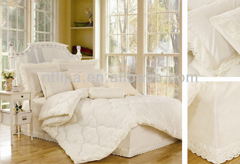 satin wedding bedding sets embroidery lace king weeding comforter sets middle east style wedding bedding sets