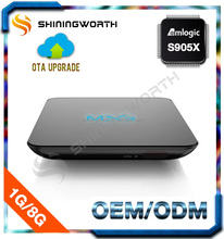 MXQ android tv box G9CX android 6.0 KODI 16.0 1G 8G with CPU S905X manufacturer in china