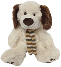 factory promotional stuffed plush cool dog with scarf