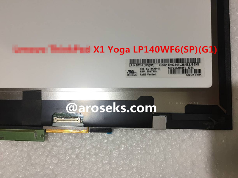 For Lenovo ThinkPad Yoga 260 LP125WH2(SP)(T2) P/N SD10G56676 FRU:00HN880 Touchscreen assembly