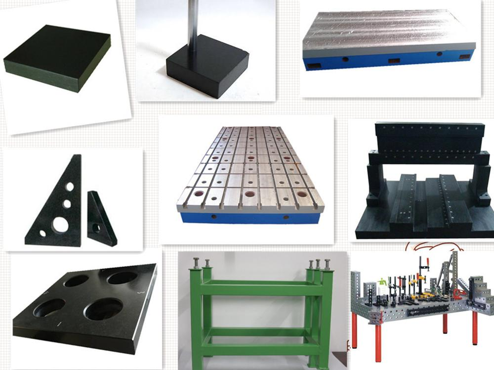 Motor Test Bed cast iron t slotted table
