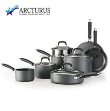 12 pcs Aluminum Nonstick Coating Cookware Set as Family Use