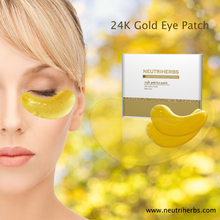 Lint Free 24k Gold Collagen Crystal Anti-Wrinkle Hydrating Brightening Hydrogel Eye Mask Gel Patch