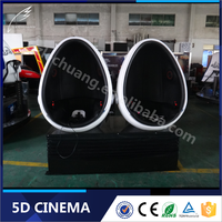 China Alibaba Amusement Equipment 9D Egg VR Cinema 2Seats With VR Video Games
